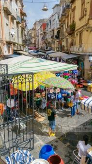Street Market in Naples, Italy